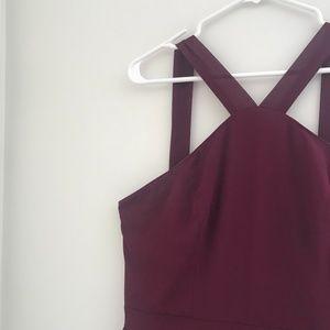 Lulu's Burgundy Air of Romance Bridesmaid Dress
